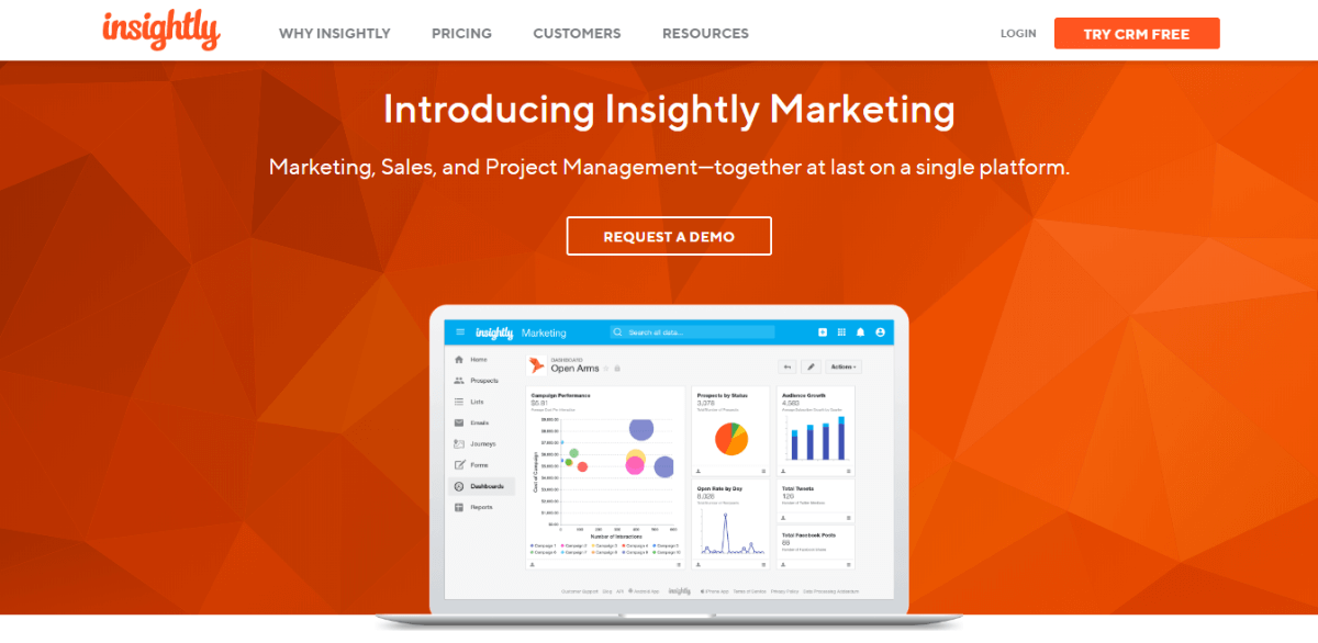 Insightly Best Small Business CRM Software