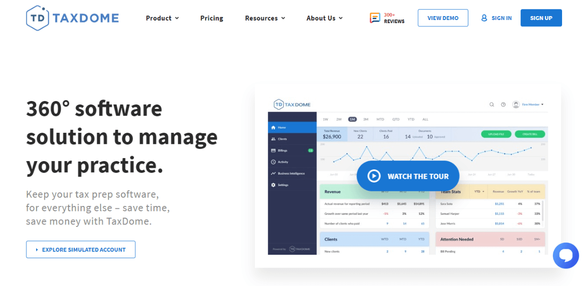 TaxDome - Best Small Business CRM Software