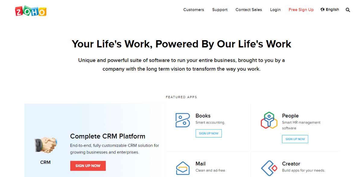 Zoho CRM - Best for Small Business