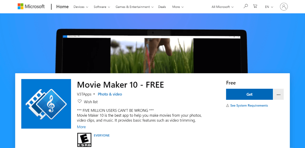 Movie Maker 10 - free video editing software for beginners