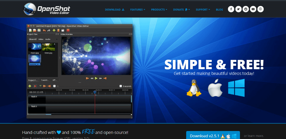 OpenShot - free fast video editing software