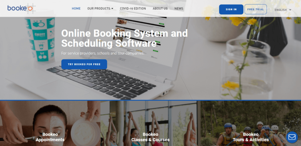 Bookeo - Calendly alternatives for Online Booking