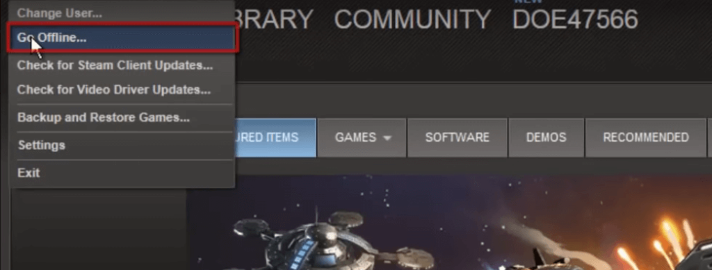 Reconnect Steam Client to the internet to fix Steam download stopping problem