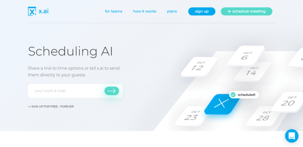 x-ai - calendly alternative for instant meeting scheduling