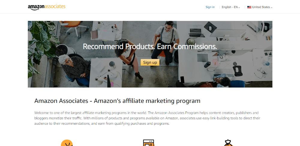Amazon Associates - Best Affiliate Networks for Beginners