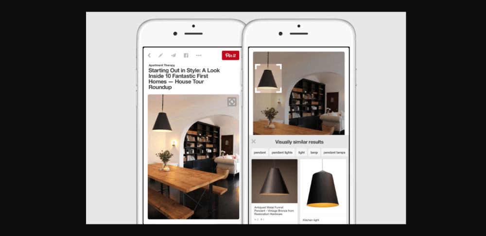 Pinterest Visual Search Tool - most accurate reverse image search