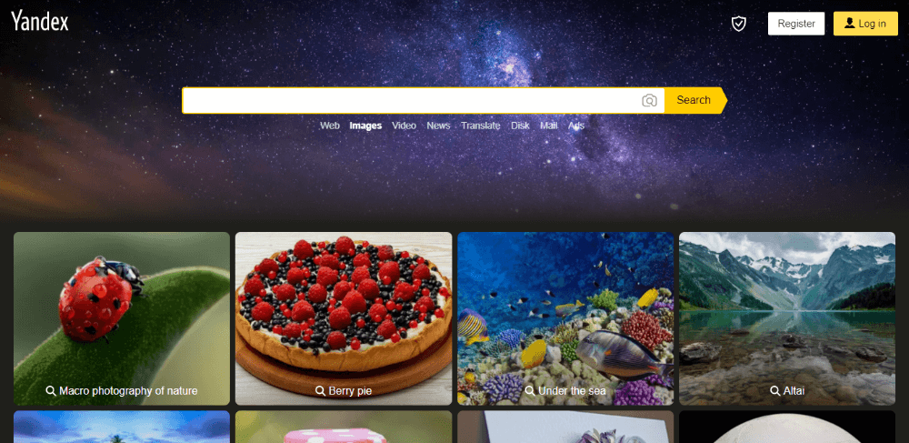 Yandex Images - most accurate reverse image search