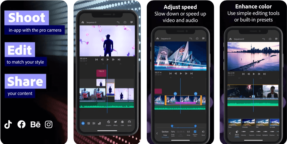 Adobe Premiere Rush - Best Video Editing Apps for iPhone