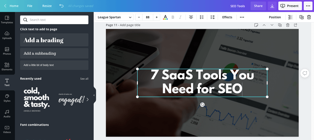Canva - Tools You Need for SEO