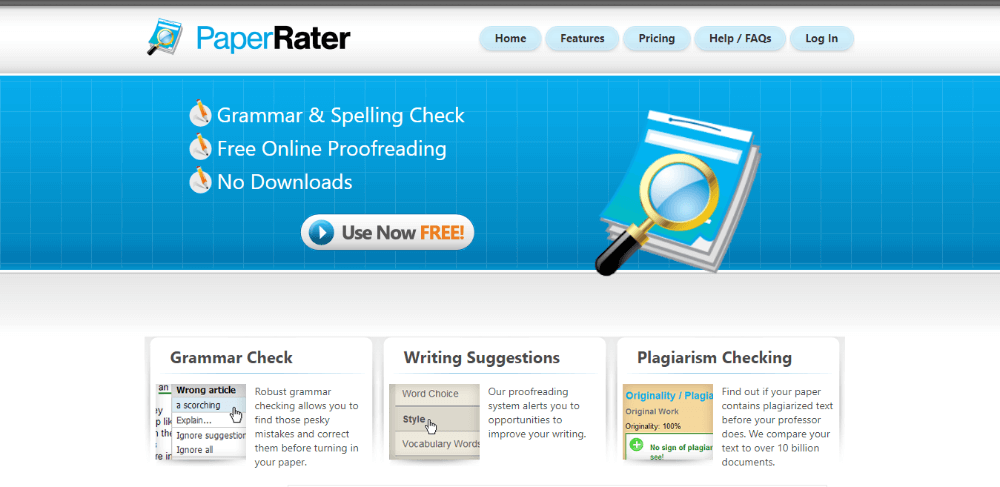 PaperRater - Grammarly Alternatives Free