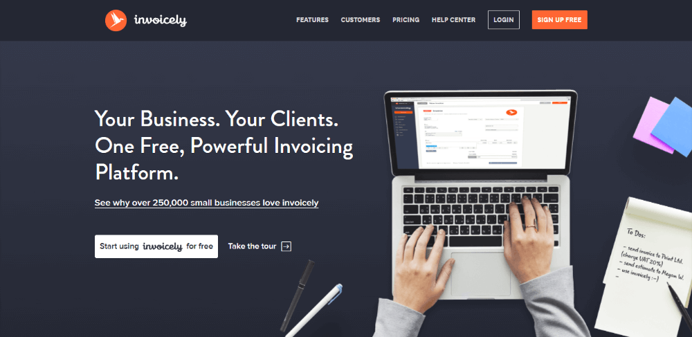 Invoicely -  FreshBooks Competitors - Online-Invoicing App