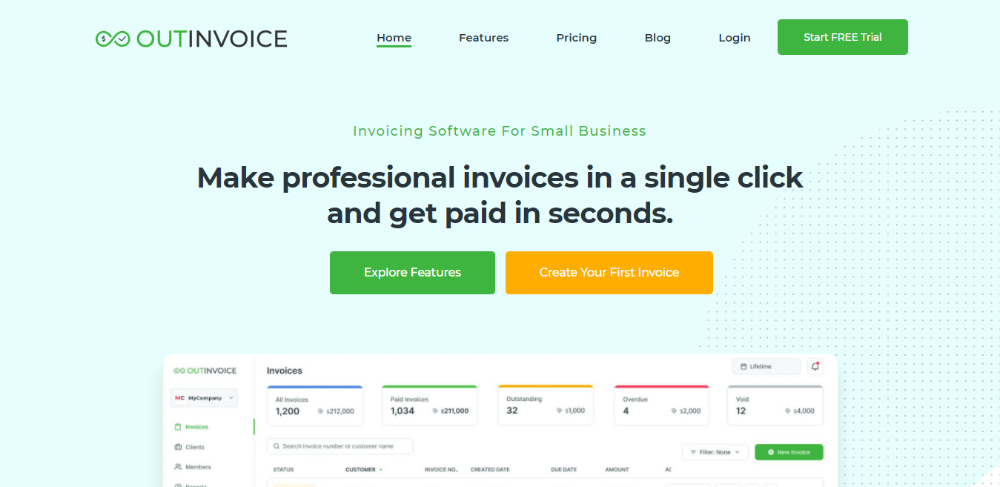 OutInvoice - FreshBooks Alternative - Invoice and Accounting Software