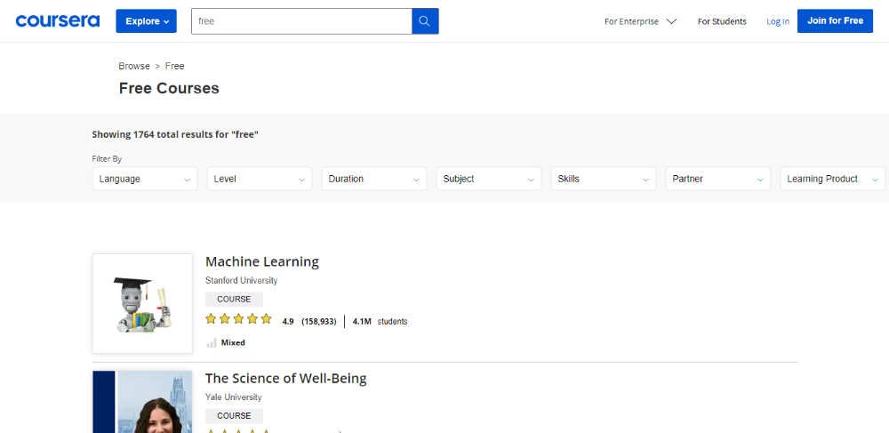 Coursera - Best free online learning platforms