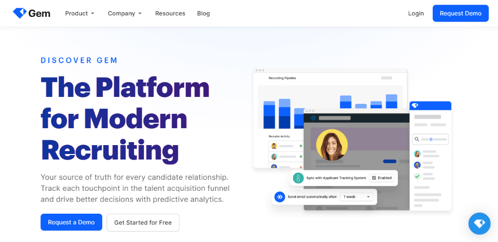 Gem - Best Recruiting Software for Small Businesses