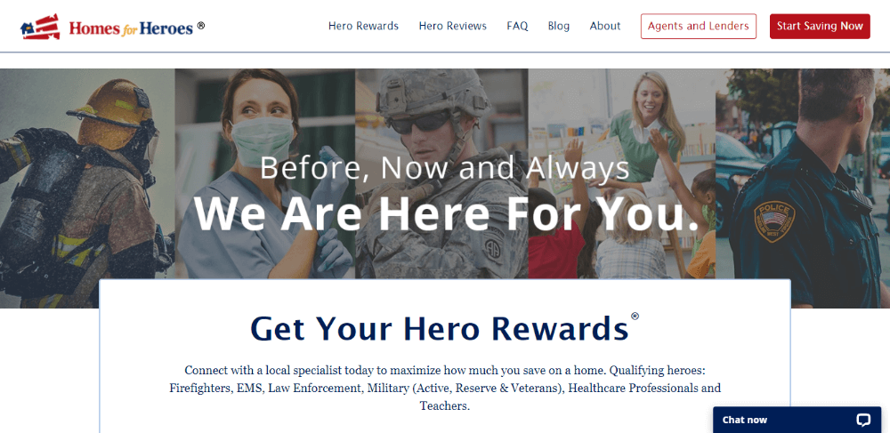 Homes-for-Heroes -  Zillow alternative