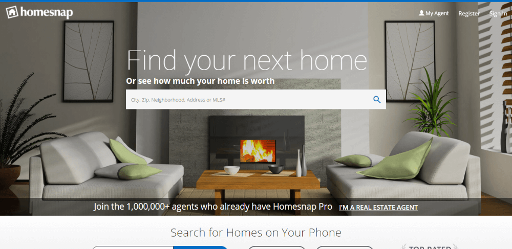 Homesnap - sites like Zillow