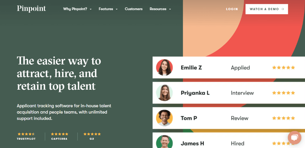 Pinpoint - Best Recruiting Software for Small Businesses