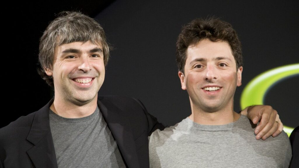 Larry Page and Sergey Brin Co-founders at Google - Successful Technopreneurs in the World